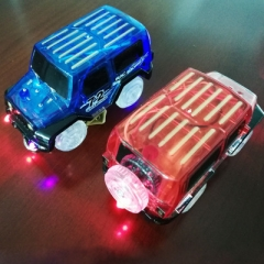 Magic Tracks Double flash car led Toy color random one size