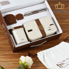 1000ml one set Cncrown lunch box can use in Microwave as the picture 1000ML