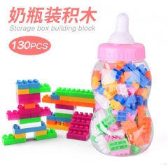 Educational Toy 130 Pcs Building Blocks with Storage Box as the picture one size