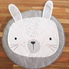 Baby Blanket Rabbit Lion Game Mat Kids Crawling Carpet A ONE SIDE