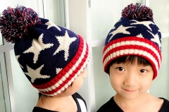 Winter Warm Kids Children Baby Cap Knitted hat boy girl hats star one size