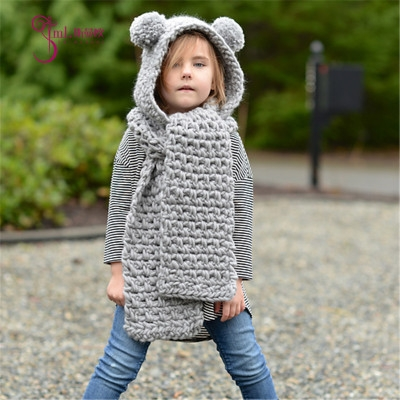 26e5e294958 Winter Warm Kids Children Baby scarf Knitted hat boy girl hats caps gray one  size  Product No  1236106. Item specifics  Brand