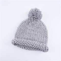 Winter Warm Kids Children Baby hat Knitted hat boy girl cap gray