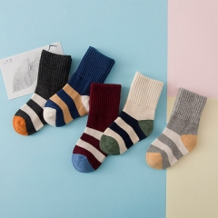 5 pairs/set Winter warm cotton socks children kids 3-12 years old A M, 3-5 years old