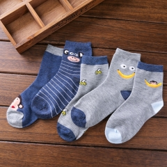 5 pairs/set Winter warm cotton socks baby kids children 1-9 years old 5pcs,a 1-3 years old