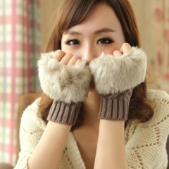 winter warm Thicken cotton gloves women
