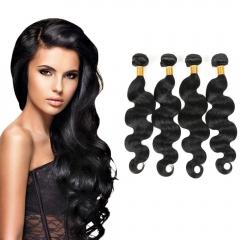 3 bundles Peruvian Virgin Remy Hair Body Wave Human Hair Weave Extensions 100g/pc black 8+8+8 inches