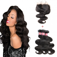 3bundles 50g/pc Brazilian Hair Body Wave Hair Weft Hair Extensions black 26+26+26 inches