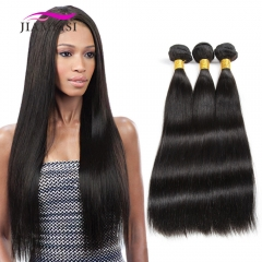 3 Bundles Straight Human Hair Extension Weave Hair 100g/pc black 8+8+8 inches