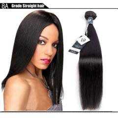 3 Bundles Brazilian Virgin Remy Hair Straight Human Hair Weave Extension 50g/pc black 10+10+10 inches