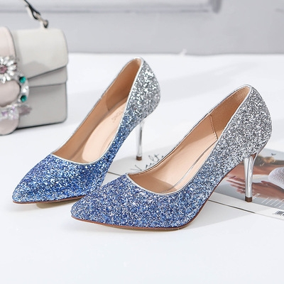 ... Women s Gradient Heels 8cm High Bride Wedding shoes blue 39  Product  No  1568018. Item specifics  Brand  d43b2072cf01