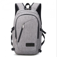 Backpack Anti Theft Password Locks Man USB Charging Laptop Backpacks Whit Headphone Plug gray A one side