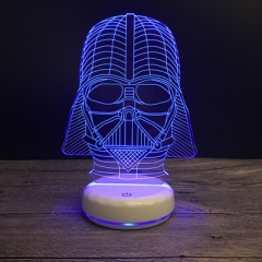 NEW Star Wars Darth Vader Dark Warrior 3D Night light USB LED Table Lamp Multicolor Lighting Color changeable touch and remote 1.5W
