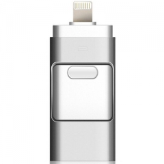 USB flash drive for iphone Drive Android OTG Pendrive for Android U Disk 3 in1 memory stick silver 3-in-1 U disk 8gb