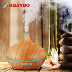 Air Humidifier Essential Oil Diffuser Aroma Lamp Aromatherapy Electric Aroma Diffuser Light Wood 300ml