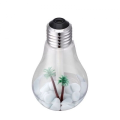 LED Lamp Air Ultrasonic Humidifier for Home Essential Oil Diffuser Atomizer Air Freshener Mist silver 15.3*8.8*8.8cm