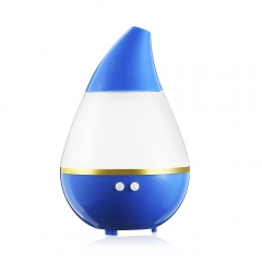 LED Light Color Changing Air Humidifier Aroma Diffuser USB Portable Ultrasonic Humidifier blue 122x122x152mm