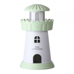 Mini Lighthouse USB Air Aromatherapy Humidifier Purifier for Home Office Car New green 80*80*143MM