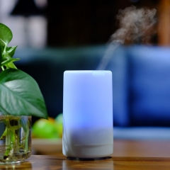USB Charging Ultrasonic Air Humidifier LED Lights Electric Aroma Essential Oil Diffuser 213 Colorful lights(213) 7.5*7.5*13cm