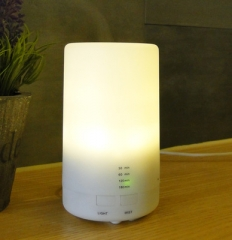 USB Charging Ultrasonic Air Humidifier LED Lights Electric Aroma Essential Oil Diffuser 213 Warm light (213) 7.5*7.5*13cm