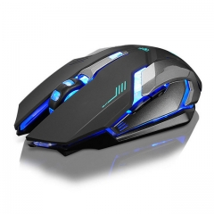 Rechargeable X7 Wireless Silent LED Backlit USB Optical Ergonomic Gaming Mouse black one size