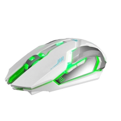 Rechargeable X7 Wireless Silent LED Backlit USB Optical Ergonomic Gaming Mouse white one size