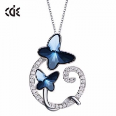 Butterfly Crystal Necklaces Pendants Fashion Jewelry For Women from Swarovski Elements see the picture one size