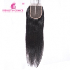 Beauty Straight Lace Closure 100% Human Hair Middle Part Top Closures black 16 inch