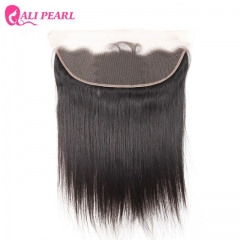 13×4 Lace Frontal Closure Straight Brazilian Remy Human Hair 10-22inch black 10 inch