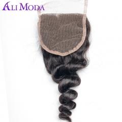 Loose Wave Lace Closure 1pc Remy Hair Closure 130% Density Human Hair Closure black 12 inch