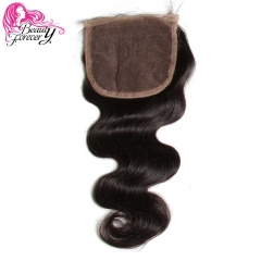 Closure Body Wave Human Hair Non-remy Free Part 120% Density Natural Color black 10 inch