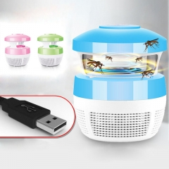 USB Charge Mosquito Killer Light Smart Optically Controlled Safety Insect Killing Lamp For Bedroom blue 220V 5W