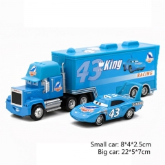 Disney Pixar Cars 2 Toys 2pcs Lightning McQueen Mack Truck The King Modle Figures Toys Gifts The King 22*5*7cm