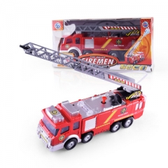 Simulation Spray Water Musical Fire Truck Model Children'S Toy Gifts Educational Vehicles Firetruck as picture 24*6.5*9cm