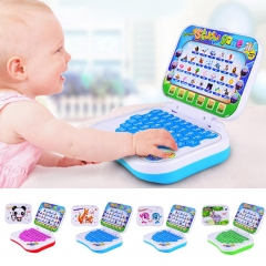 Mini Early Learning Machine Cartoon folding multifunctional toy Computer Speaking English Chinese pink 15.5*12*13 cm
