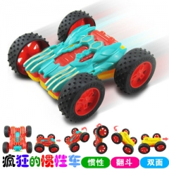 Novelty Funny Design Light-up Toy Cars Educational Flashiong Pull Back Toy Cars for Children random color 11*11*4.5 cm