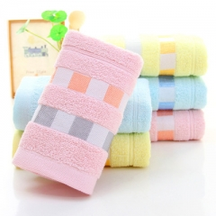 5 pcs/set Cotton Adults towels Cotton Camping Trip Travel Essential Easy Carry Portable Towels random colors 74*34 cm