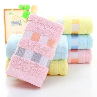 5 pcs/set Cotton Adults towels Cotton Camping Trip Travel Essential Easy Carry Portable Towels random colors 74*34 cm