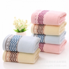 3 pcs/lot High quality cotton towel, cotton towel thickened, water pattern high-grade gift towel random colors 35*75 cm