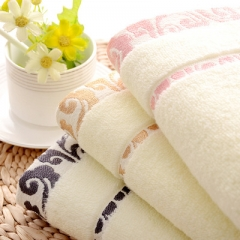 10pcs towel wholesale gift customized quality cotton clouds thickened untwisted yarn jacquard towel random colors 33*75 cm