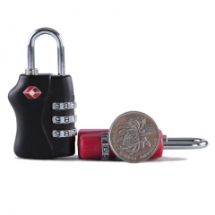 Resettable 3 Digit Combination Lock Travel Luggage Suitcase Code Padlock Metal