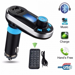3-in-1 Universal Car Kit MP3 Player FM Transmitter AUX Wireless Car modulator radio 2 USB Charger As the picture