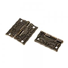 10pcs 24*22mm Antique Bronze Hinges Door Hinges Cabinet Drawer Jewelry Box Hinge Hardware