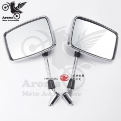 1 pair motorbike rearview mirrors for yamaha suzuki mirrors honda 10mm screw moto Accessories
