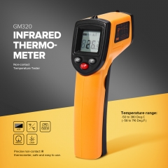 GM320 Infrared Thermometer Non-contact Temperature Tester LCD Display IR Laser Point Gun