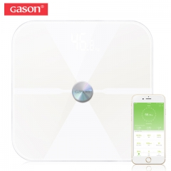 Body Fat Scale Electronic LED Digital Weight Bathroom Household Balance Bluetooth APP Android or IOS white as picture