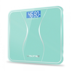 GASON A2s Bathroom Body Scale Glass Smart Household Electronic Digital Floor Weight Balance180KG/50G blue-green as picture