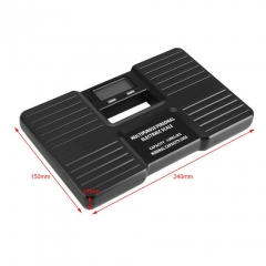 LCD Digital Electronic Scale On/Tare Function Low Battery Alarm Body Weight Electronic Scales black as picture