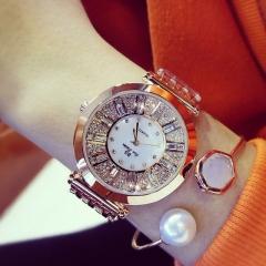Women Watches Diamond Luxury Famous Brand Elegant Dress Quartz Watches Lady gold