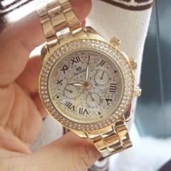 Brand Watch Ladies Fashion Watch Women Luxury Casual Quartz Watch gold